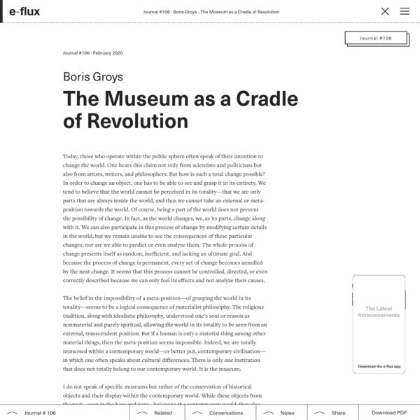 The Museum as a Cradle of Revolution