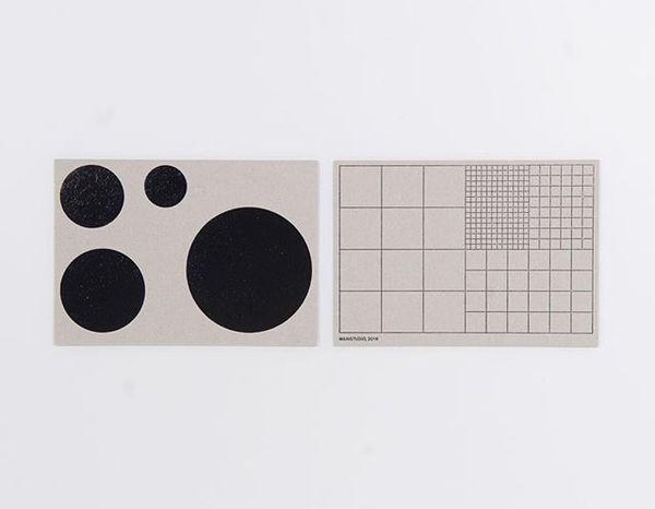 Front and back of @mainstudio 's cardboard postcard.. soon in our webshop! #formfollowsframework #grid #raster #dots #circle #artistedition #postcard #mainstudio @edwinvangelder #postmodern #foilblocking