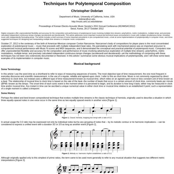 Techniques for Polytemporal Composition