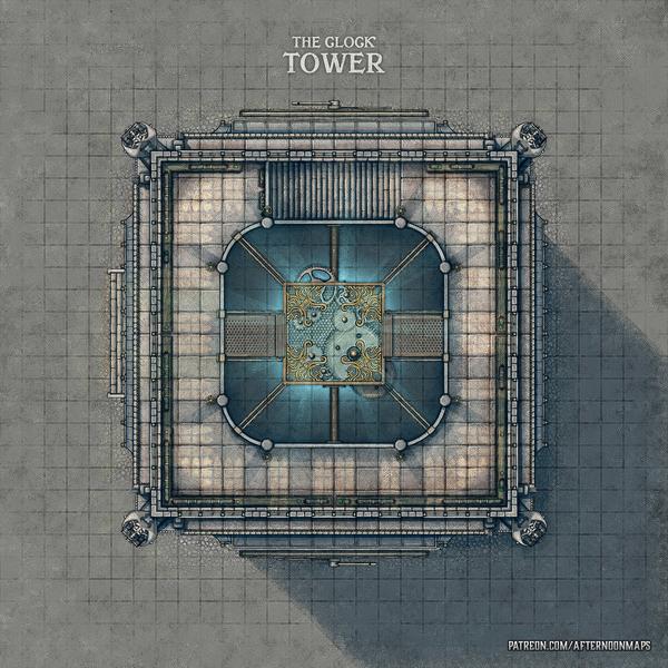 The Clock Tower Battle Map - 30x30