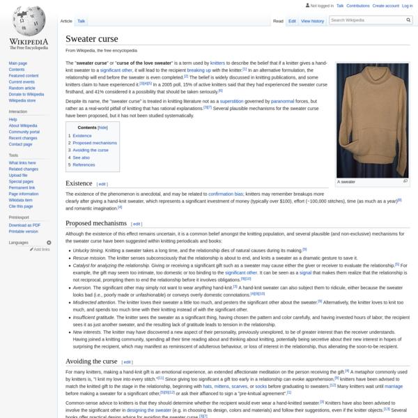 Sweater curse - Wikipedia