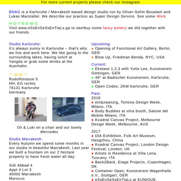 BNAG (Super Design Service - No nasty contracts)