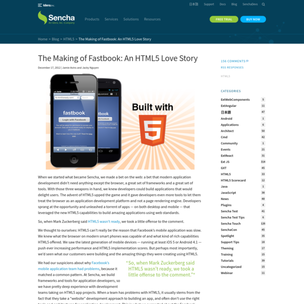 The Making of Fastbook: An HTML5 Love Story - Sencha.com