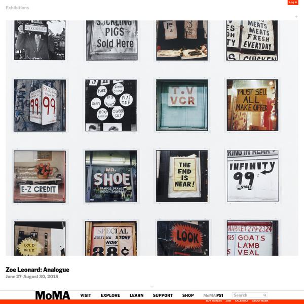 Zoe Leonard: Analogue   MoMA