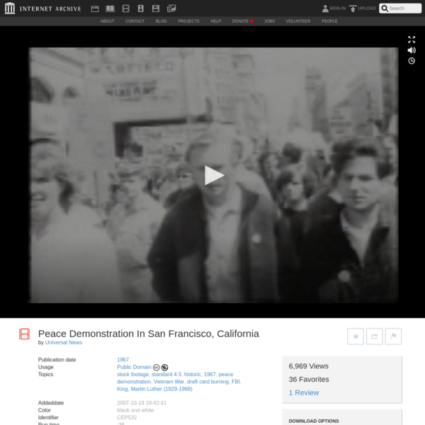Peace Demonstration In San Francisco, California : Universal News : Free Download, Borrow, and Streaming : Internet Archive
