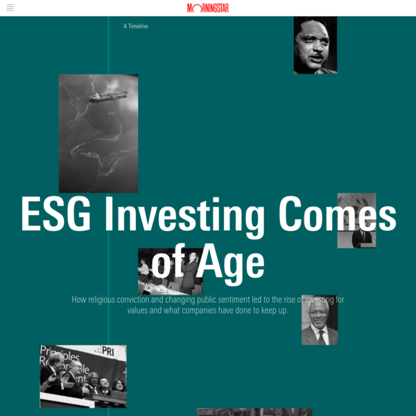 ESG Investing Comes of Age