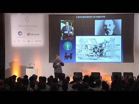 DEVCON1 - Day 5 - 13th November 2015 Nick Szabo (http://szabo.best.vwh.net/) takes the stage to present on the history of blockchain technology and his work on the Ethereum tech stack.