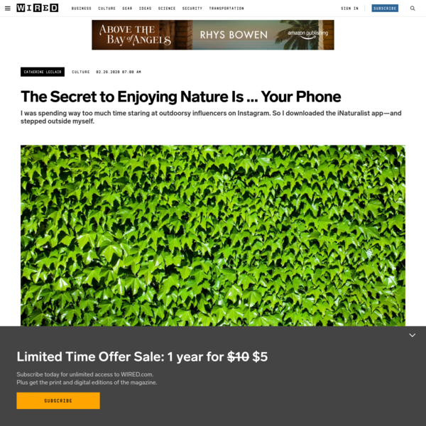 The Secret to Enjoying Nature Is ... Your Phone
