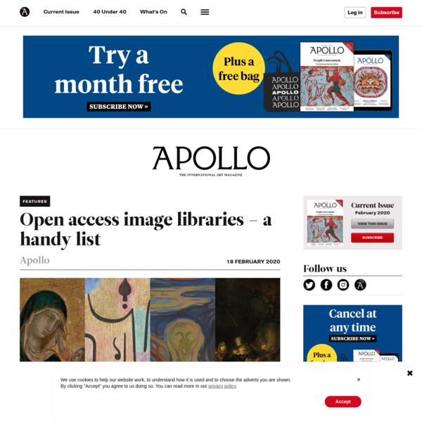 Open access image libraries - a list | Apollo Magazine
