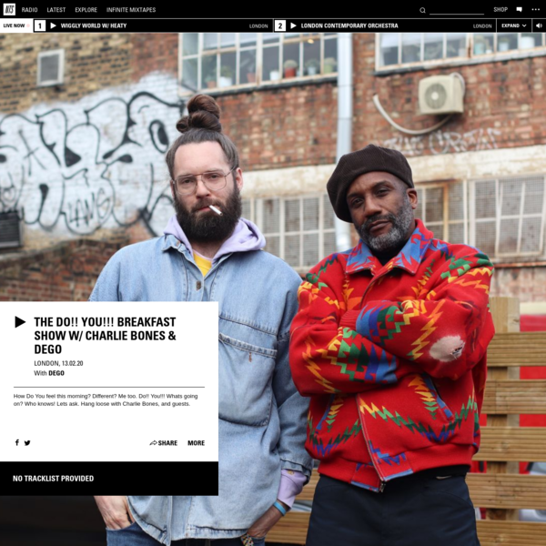 The Do!! You!!! Breakfast Show w/ Charlie Bones & Dego 13th February 2020