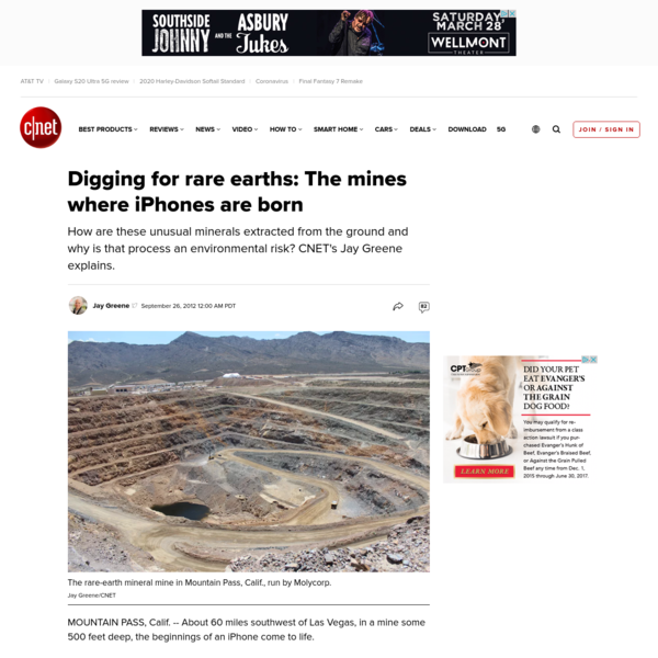 Digging for rare earths: The mines where iPhones are born