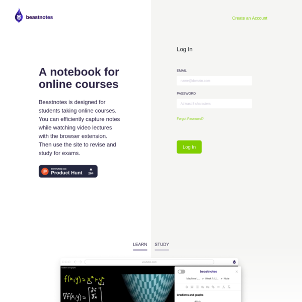 Beastnotes | Note taking app for online courses