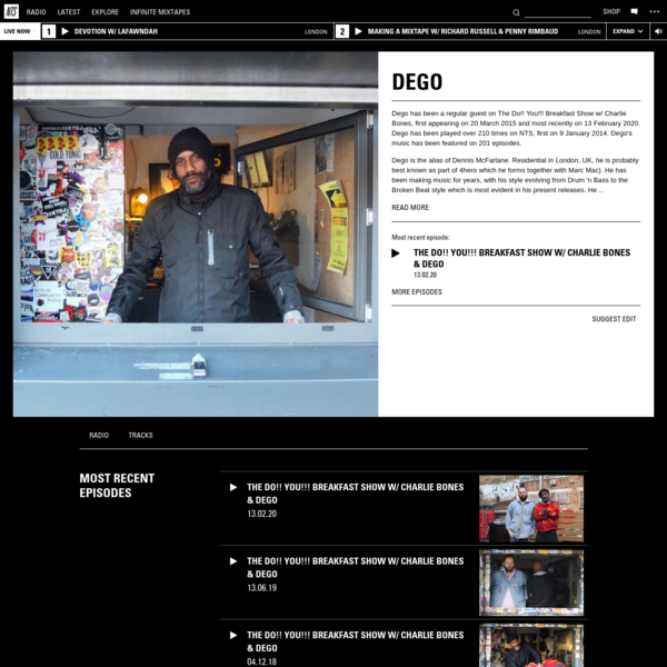 Dego | Listen on NTS