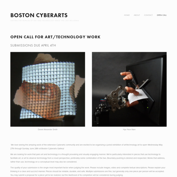 Open Call - Boston Cyberarts