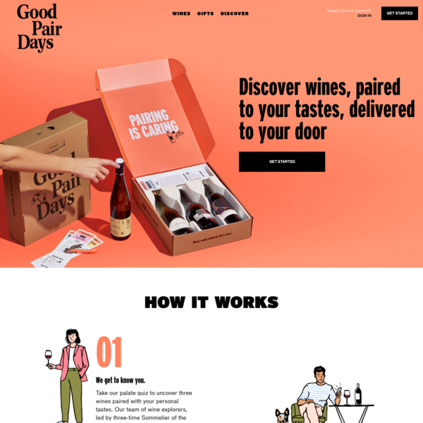 Good Pair Days | Discover Wines Paired To Your Tastes