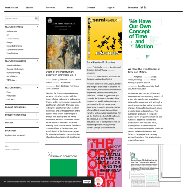 Critical Theory | Fields | LIBRARYSTACK∎