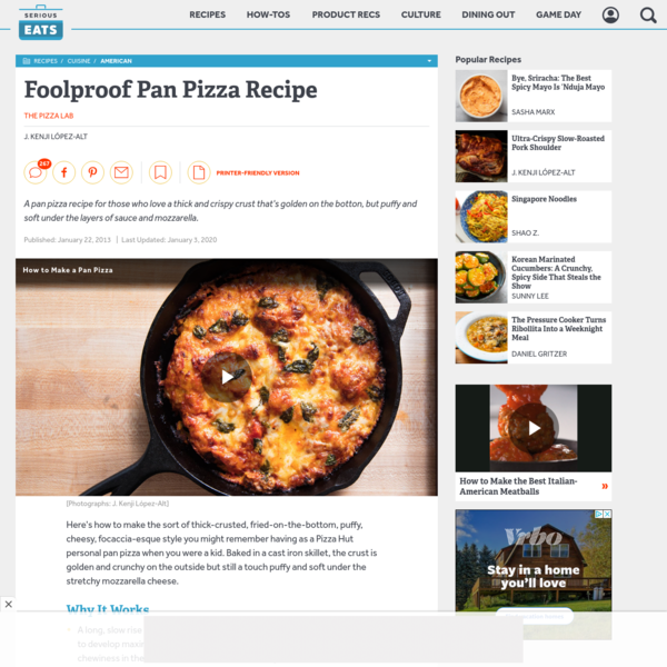 Foolproof Pan Pizza Recipe