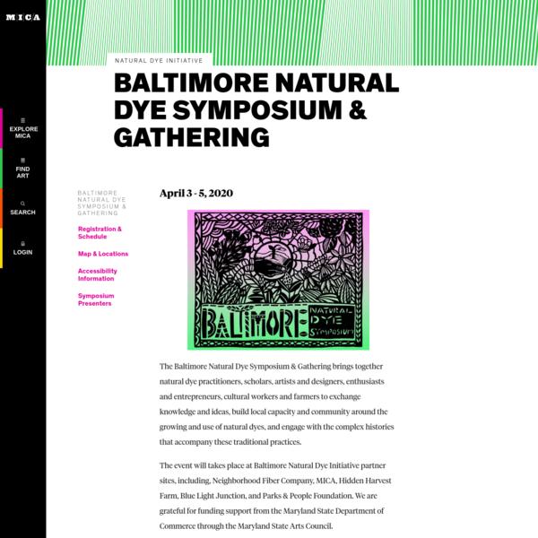 Baltimore Natural Dye Symposium & Gathering