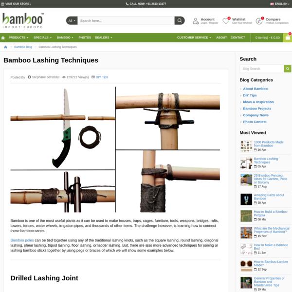 Bamboo Lashing Techniques