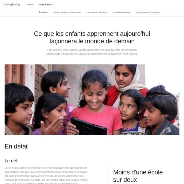 Éducation - Google.org