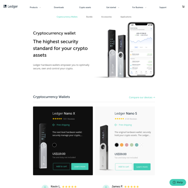Ledger - Home of the first and only certified Hardware wallets