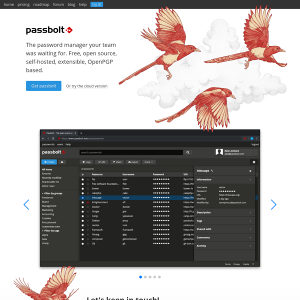 Passbolt | Open source password manager for teams