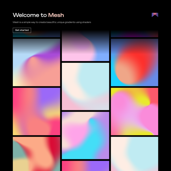 MESH - Create beautiful gradients