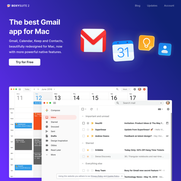 Boxy Suite 2 - The best Gmail app for Mac