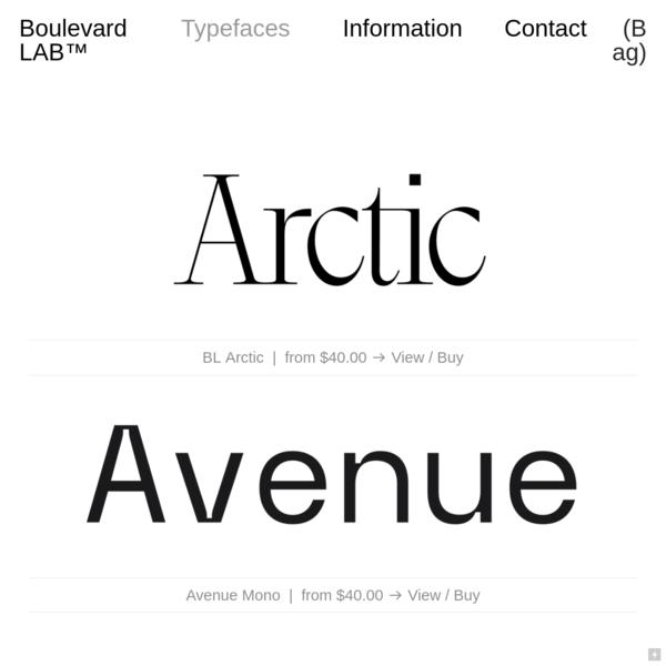 Typefaces - Boulevard LAB