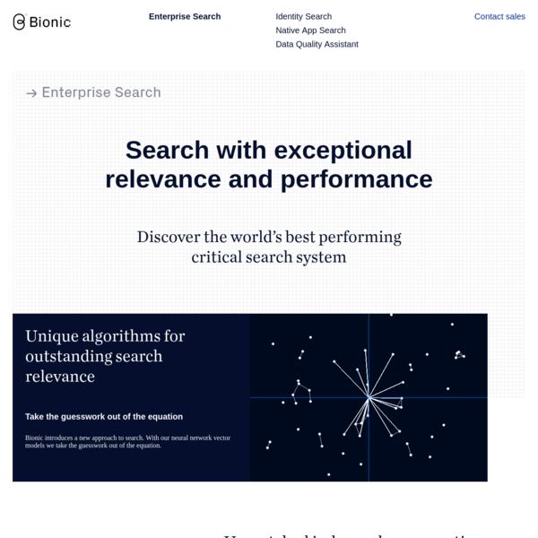 Bionic Enterprise Search