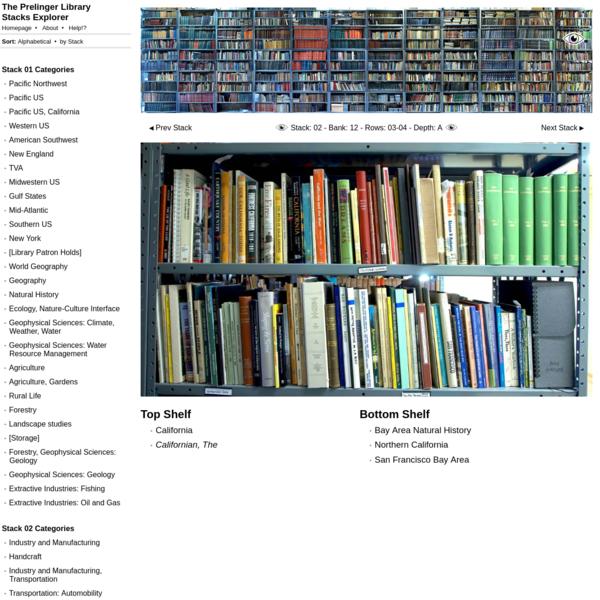 The Prelinger Library Stacks Explorer