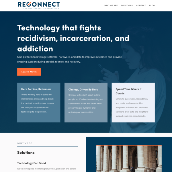 Reconnect | Fighting recidivism, incarceration, and addiction