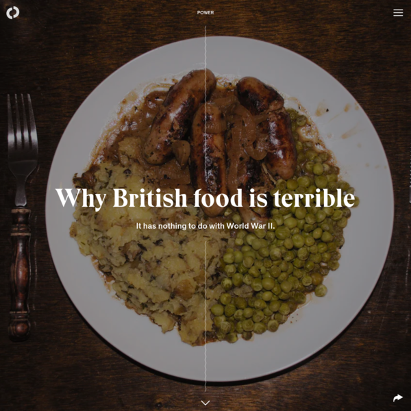 Why British food is terrible