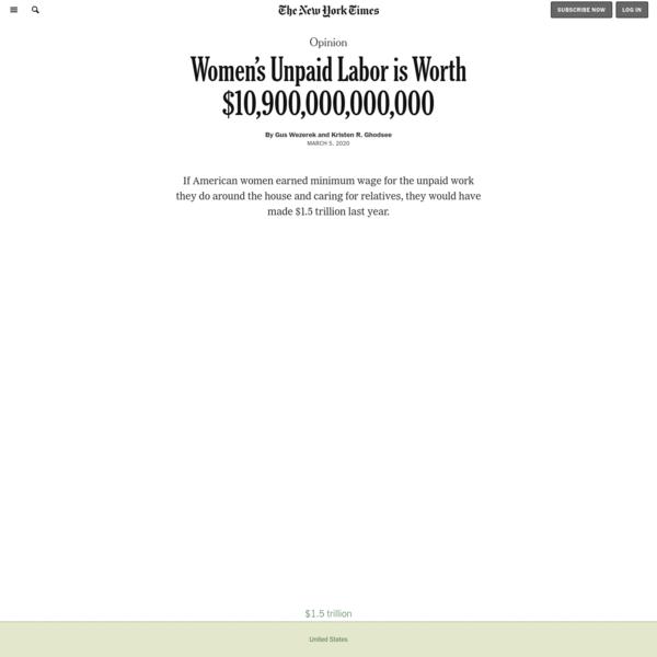 Opinion | Women's Unpaid Labor is Worth $10,900,000,000,000