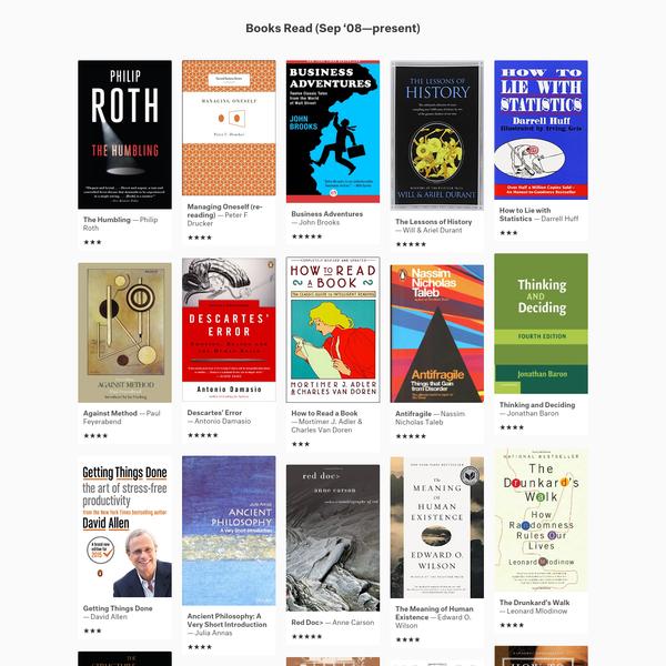 Reading List - Chad Mazzola