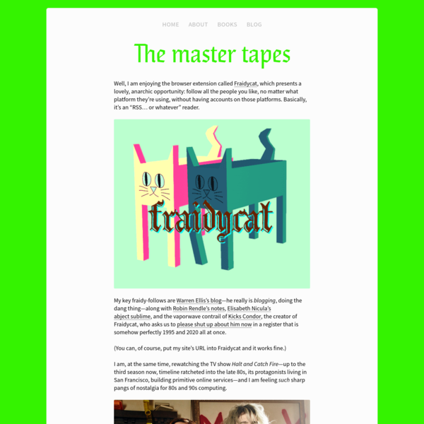 The master tapes