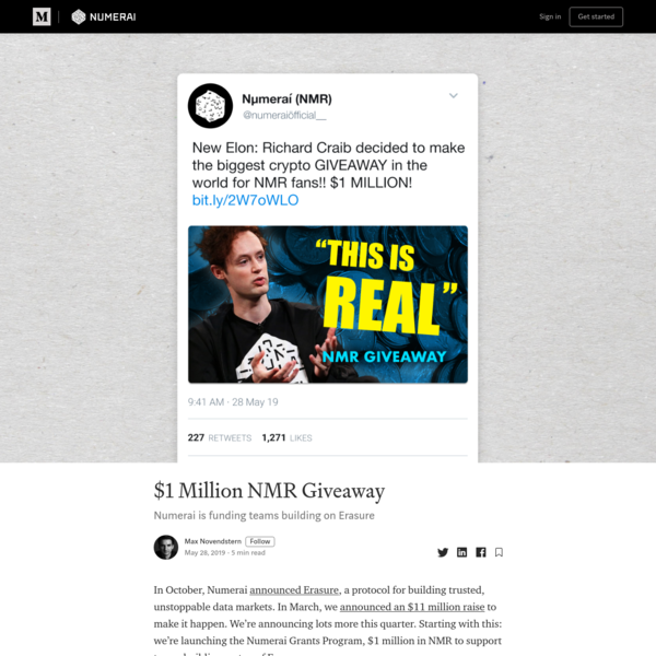 $1 Million NMR Giveaway