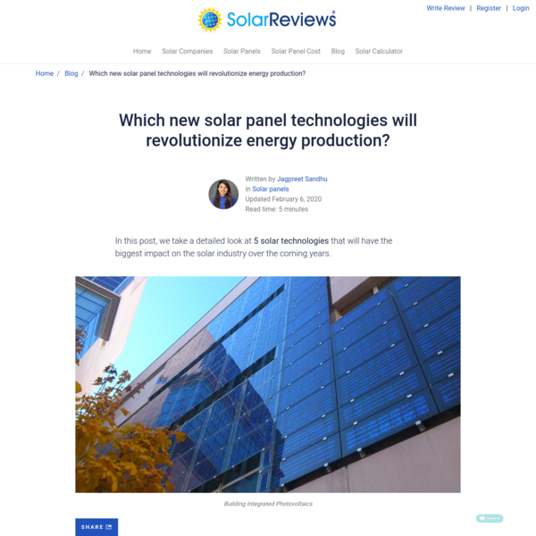 Which new solar panel technologies will revolutionize energy production?
