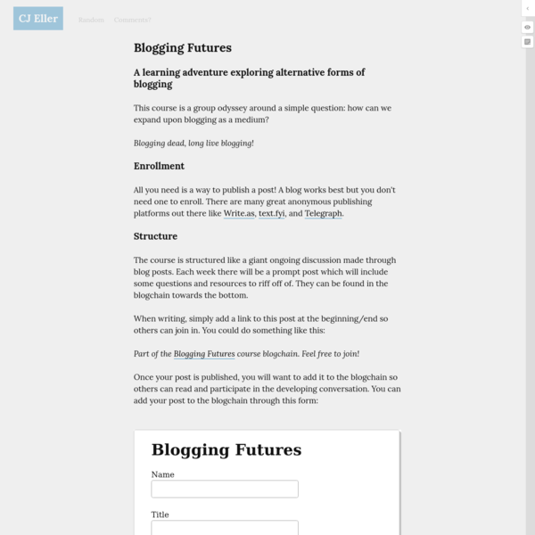 Blogging Futures