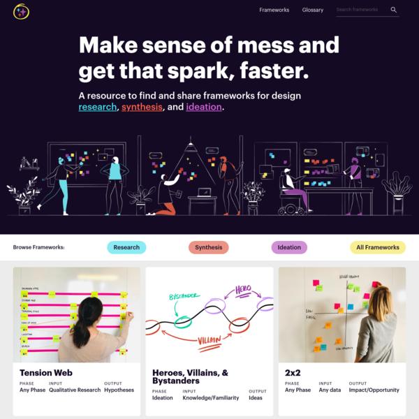 UX Frameworks - Make sense of mess and get that spark, faster.