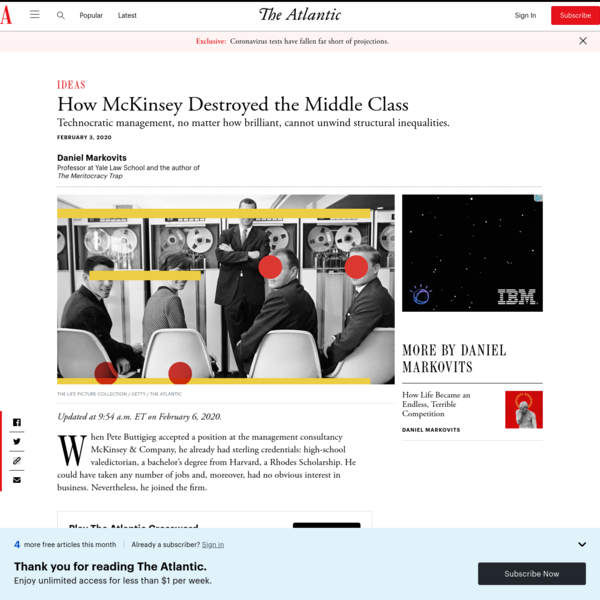 How McKinsey Destroyed the Middle Class