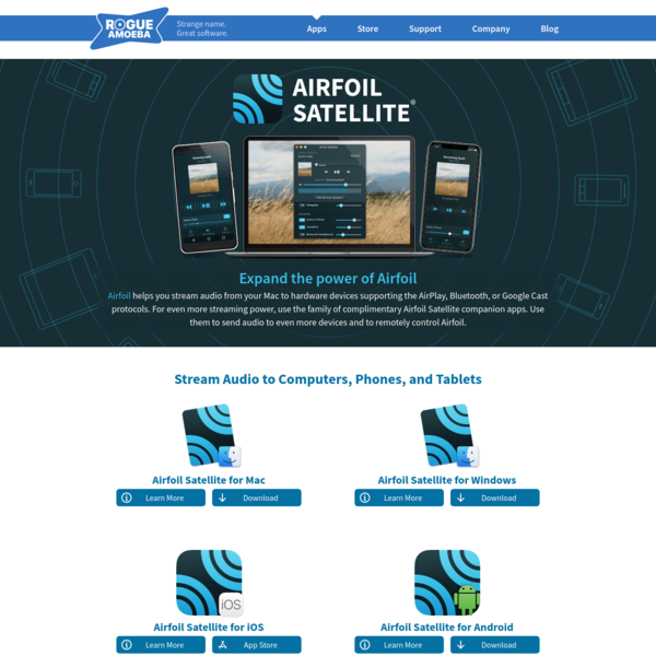 Rogue Amoeba | Airfoil Satellite: Stream audio to many devices, from any Mac