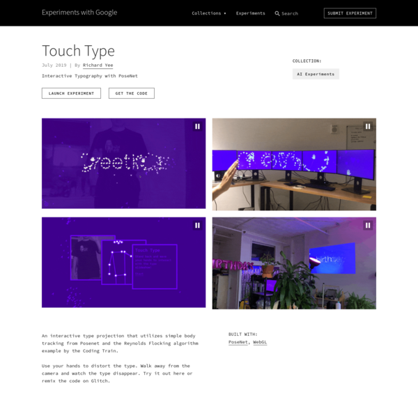 Touch Type by Richard Yee | Experiments with Google