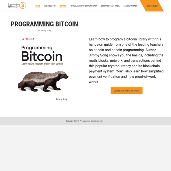 Book: Programming Bitcoin