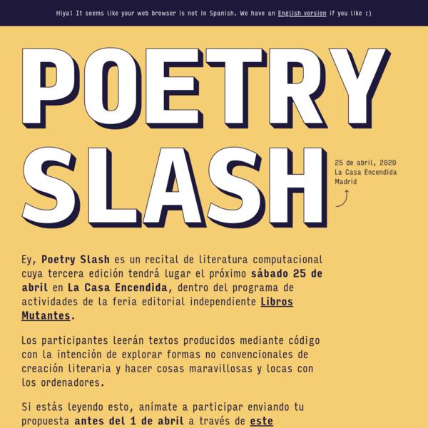 Poetry Slash