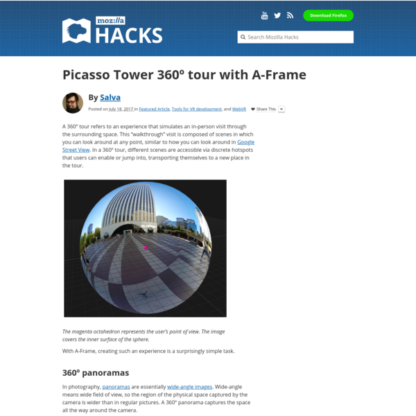 Picasso Tower 360º tour with A-Frame - Mozilla Hacks - the Web developer blog