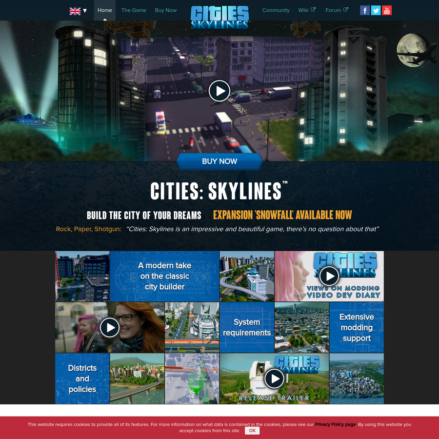 A modern take on the classic city builder A modern take on the classic city builder Cities: Skylines™ is rich in features with the ability to influence your city's policies in different districts. We also give you the ability to mod the game to suit your play style.