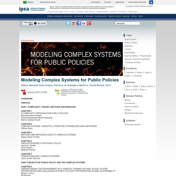 Modeling Complex Systems for Public Policies