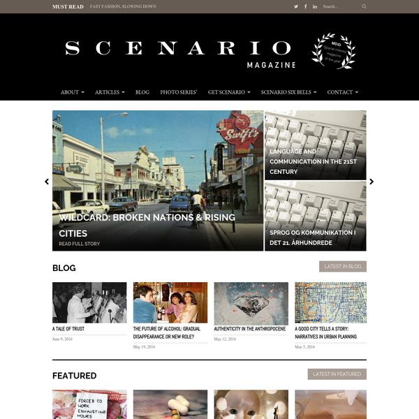 Copyright © 2016 Scenario Magazine. All Rights Reserved.