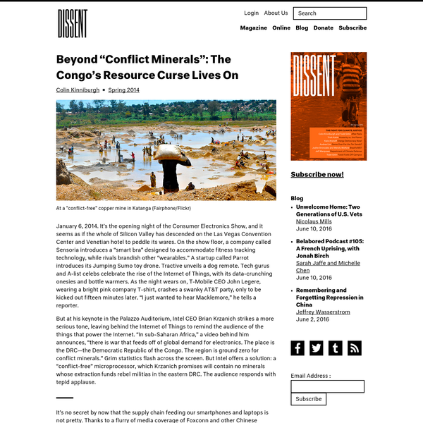 """Beyond """"Conflict Minerals"""": The Congo's Resource Curse Lives On   Dissent Magazine"""